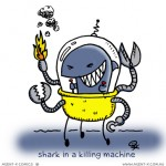 Shark in a Killing Machine (#tuesdaysketch)