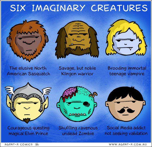 Six Imaginary Creatures – Agent-X Comics