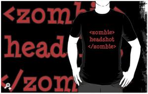 Zombie headshot shirt