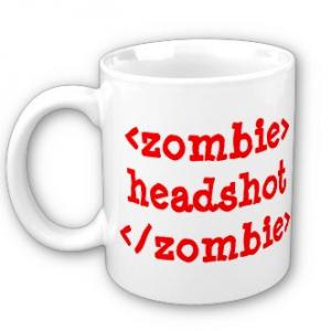 Zombie Headshot mug