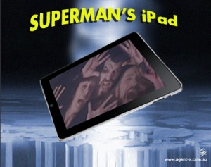 Superman has the phantom Zone app installed