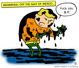 Aquaman speak out about the BP Oil spill
