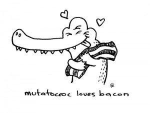 Mutatocroc also likes noodles.